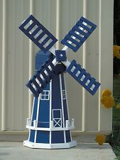 "46"" Octagon Poly Dutch Windmill  (Patriot Blue with White Trim)"
