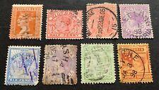 British Victoria Australia - 8 used stamps