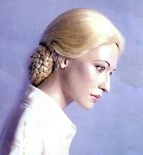 EVITA EVA PERON 1940s 1950s Era Blonde Womens BRAID HAIR WIG HAIRSTYLE COSTUME