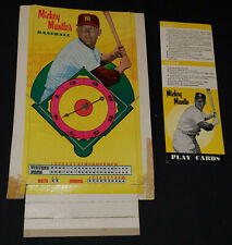 1950/60's - MICKEY MANTLE'S BASEBALL - BOARD GAME - SPINNER + INSTRUCTIONS ONLY