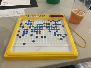LAKESHORE EDUCATIONAL MAGNETIC COLORFUL BUTTON BOARD FINE MOTOR Skills GAME VTG