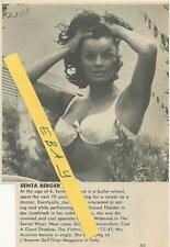 1971 SENTA BERGER MAGAZINE AD ARTICLE CLIPPING POSING IN BIKINI