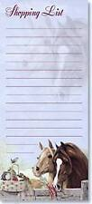 Leanin Tree  Magnetic Shopping List Note Pad  60 Lined Sheets Magnet  Horse  New