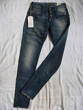 Replay Blue Jeans Röhre W27/L34 Denim slim fit normal waist pipe leg button fly
