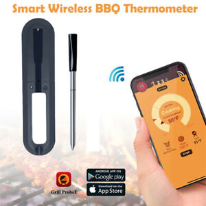 Digital Grillthermometer Fleischthermometer Bluetooth Funk BBQ Thermometer
