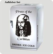 Kühlschrank Aufkleber Set Pirate of the Caribbian - Jack Sparrow - schwarz glanz
