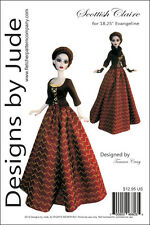 "Outlander Scottish Claire Doll Clothes Sewing Pattern 18.25"" Evangeline Ghastly"