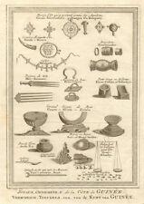 'Joyaux, ornemens de la côte de Guinée' West Africa jewels ornaments SCHLEY 1748