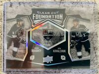 2019-20 UD Series 1 Clear Cut Foundation Duo #CCF-13 Doughty & Kovalchuk ACETATE