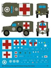 Peddinghaus 1/87 (HO) US Army and US Navy Dodge WC-54 Ambulance Markings 3304