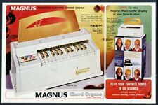 1966 Magnus Chord Organ Princess model color photo vintage print ad