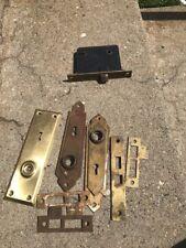 Vintage Metal Antique Door Knob Plates And Lock