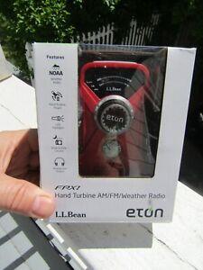 Eton FRT 002 Red Mini Emergency Hand Turbine AM/FM Weather Radio ~ New ~