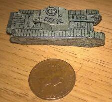 Small thin card British Churchill tank WW2 1970s roughly N Gauge