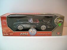 NIB 1:18 Scale Black 1958 Chevrolet Corvette Convertible Die-cast By Motor Max