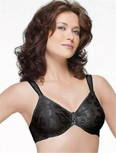 NEW Wacoal 85567 Awareness Seamles FullFigure Undrwire Bra 44H Black