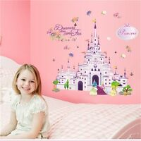 Princess Castle Girl Wall Decal Sticker Home Decor Art For Kids Room Decoration