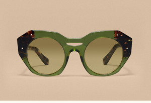 "REVEL PARIS ""Kaki Cristal"" womens sunglasses HANDMADE (NEUF)"