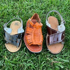 BOY'S Mexican Sandal/Huarache Artesanal Mexicano/Huacache cruzado/Sinaloa Style
