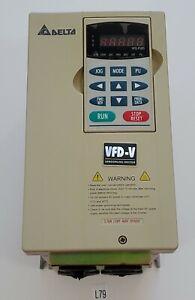 *PREOWNED* DELTA VFD037V43A 3.7kW 5HP 460V 3PH Variable Speed Drive PLC Warranty