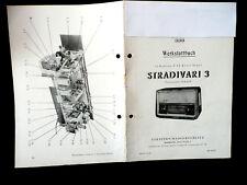 "DDR- Radio "" STRADIVARI 3 "" Stromlaufplan-Kopie ( AM/FM-Super , um 1960 , TOP)"