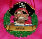 🎅🏽rare New Blackbeard's Rum Cayman Islands Pirate In Wreath Christmas Ornament