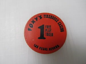 $1 Foxy's Firehouse Casino Las Vegas Chip Token + FREE Mystery Bonus Poker Chip