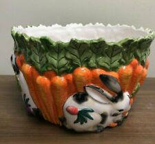 Fitz and Floyd Essentials Spotted Rabbit Large Bowl Bunny Easter