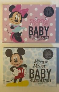 Disney Baby Photo Album Minnie or Mickey Mouse Snap & Share Milestone Cards