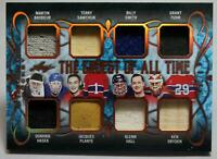 2019-20 Leaf ITG Greatest of All Time Sawchuk Plante Dryden Relic #TGT-01 NM /25