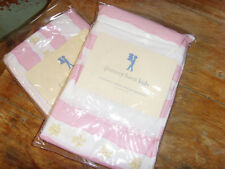Pottery Barn Kids 2 NEW Standard size pink pillowshams shams Elizabeth Stripe