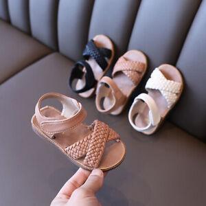 Girls Sandals Toddler Little Kid Soft Sole Hook & Loop Strap Flat Summer Shoes