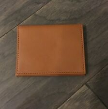 Polo Ralph Lauren Card Case Wallet Tan Leather New Vintage Id Holder