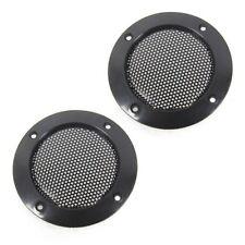 "2 Pcs 2"" inch Black Audio Speaker Cover Decorative Circle Metal Mesh Grille TW"