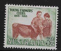 Australia Scott #262, Single 1953 Complete Set FVF MH