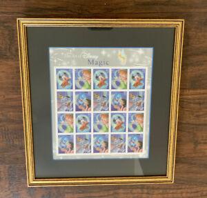THE ART OF DISNEY MAGIC Stamp Sheet 2006 20 41C Professionally Framed
