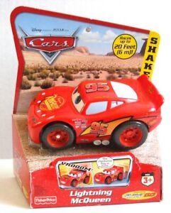 Disney CARS LIGHTNING McQUEEN Shake N Go Racer Desert Scene Fisher Price Toy