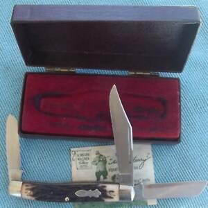 SCHRADE WALDEN  U.S.A. Large Staglon Stockman UNCLE HENRY Pocket Knife ~ UNUSED!