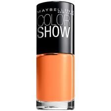 MAYBELLINE COLOR SHOW NAIL LACQUER #210 SWEET CLEMENTINE BUY 2 GET 1 FREE