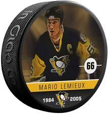 Mario Lemieux Pittsburgh Penguins Nhl Alumni Photo Hockey Puck