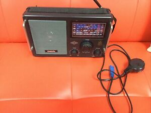 ONDIAL WORLD BAND RADIO, 7 BAND, MODEL 9682, WITH CARRY HANDLE & POWER CABLE