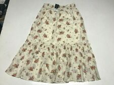 DOROTHY PERKINS Cream Elasticated Floral Maxi Skirt   UK 16  EUR 44  (rst134-10)