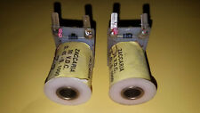 2 x used Zaccaria Pinball coils solenoids 50 volts dc D.45-S.1000 Pop Bumpers