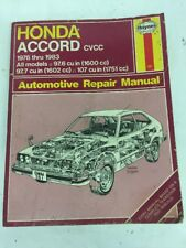 HAYNES Honda Accord Automotive Repair Manual