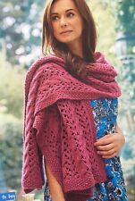 KNITTING PATTERN Ladies Large Lightweight Lace Scarf Wrap Sublime PATTERN