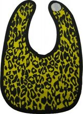 87007 Yellow Leopard Print Baby Bib Animal Toddler Infant Feeding Punk Kids New
