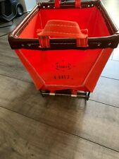 Steele Canvas Basket For Anthropologie Small Orange Limited Edition Color New