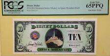 2014D $10 Space Mountain Disney Dollar Graded By PCGS Gem New 65PPQ, D003207