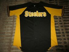Pittsburgh Steelers Baseball Pirates Tribute Majestic NFL Jersey LG L mens