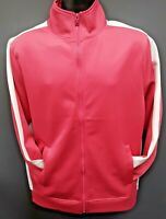 Men's Rebel Minds Front Full Zip Track Jacket - Pink/White